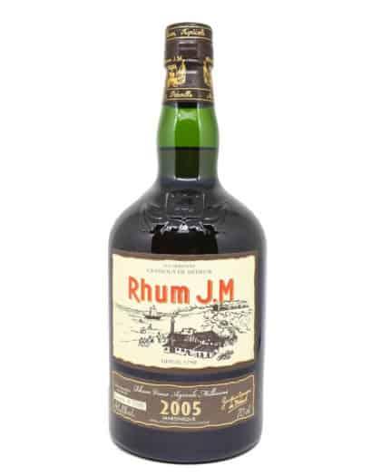 Rhum J.M, Millésime 2005, Rhum Vieux Agricole Millésime, Brut de Fut 43,8%vol
