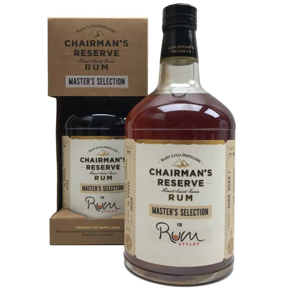 Chairman's Reserve Master's selection John Dore 1 19 years for Rum Stylez Belgium