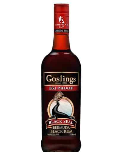 Gosslings Black Seal Rum 151 Proof