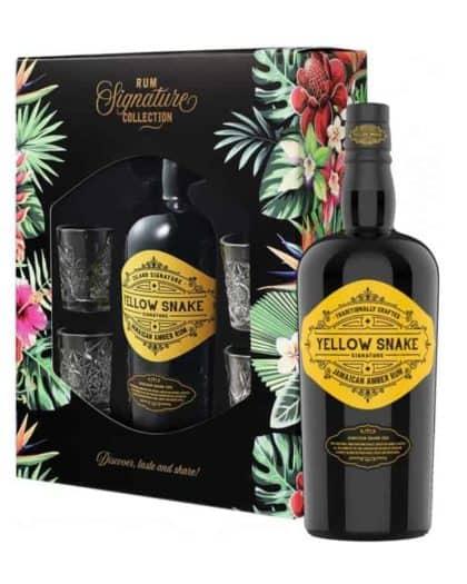 Island Signature Rum Yellow Snake Jamaican Amber Rum Giftpack