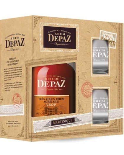 Rhum Depaz VSOP giftpack 2 glasses