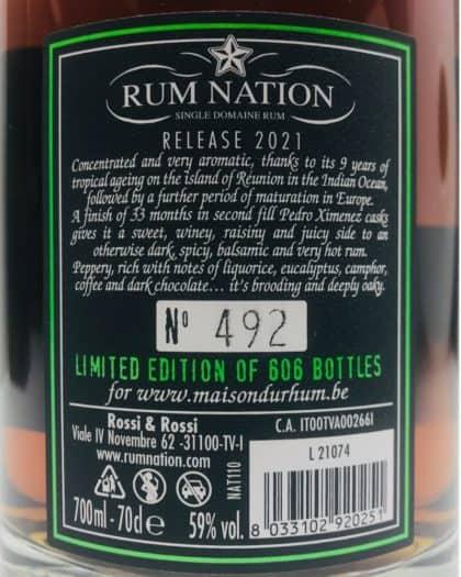 Rum Nation Savanna Traditionnel 13 Years Cask Strength For La Maison Du Rum Belgium