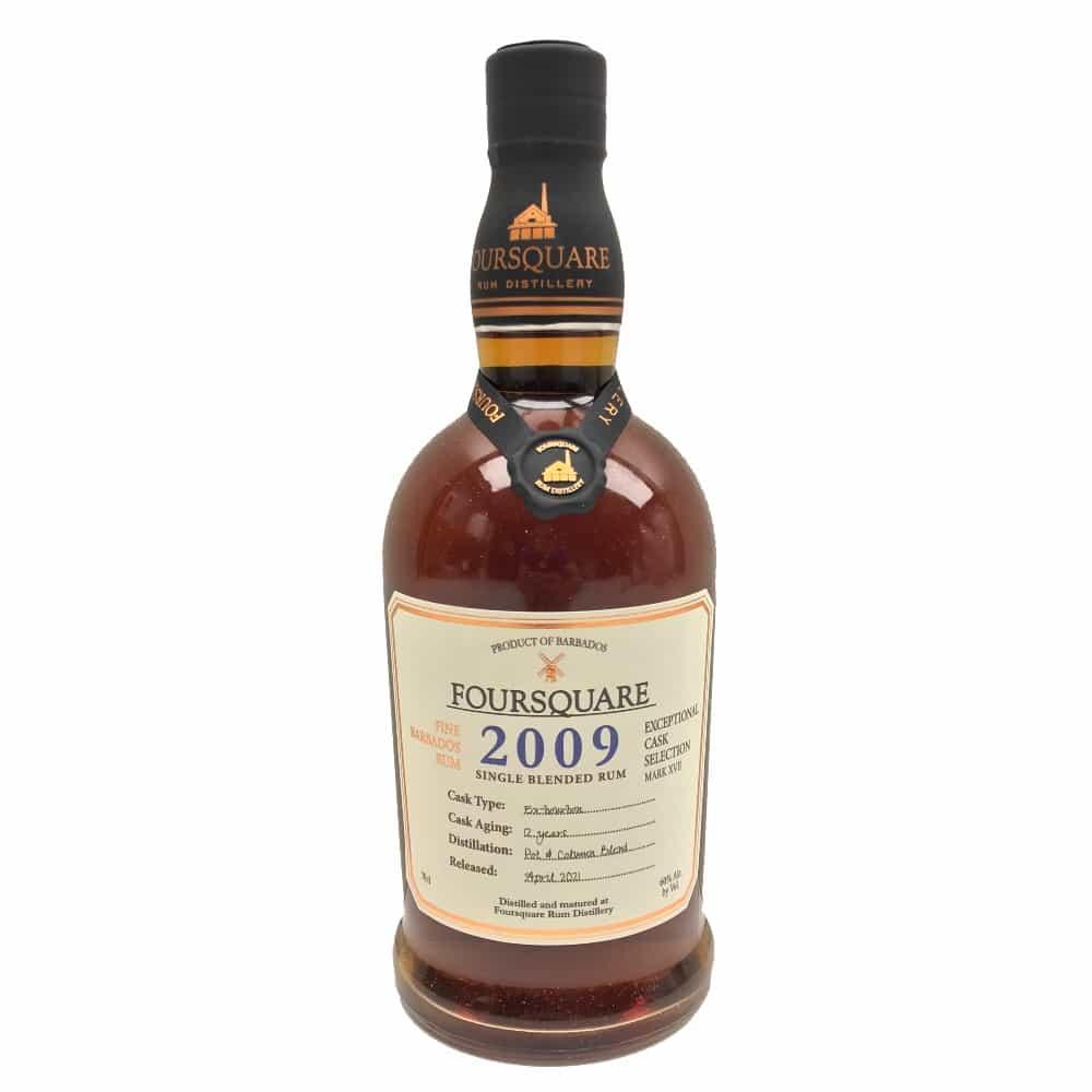Foursquare Rum Distillery, Barbados Exceptional Cask Selection mark XVII Vintage 2009 ex-Bourbon Cask Single Blended Rum (Pot & Column) 70cl 60%vol.