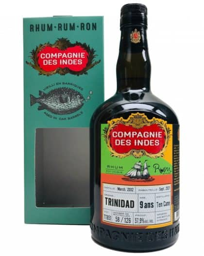 Compagnie Des Indes Trinidad 9 Ans Ten Cane Rum Stylez 70cl 57,9%Vol